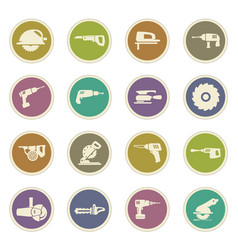power tools icons set vector image vector image