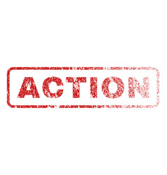 action rubber stamp vector image vector image