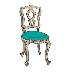 baroque chair vector image vector image