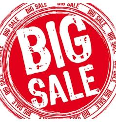 big sale stamp vector image