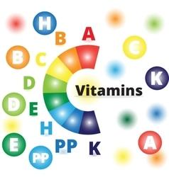 colorful vitamins vector image