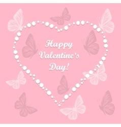 Heart of love with butterflies vector image vector image