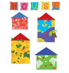house patches vector image vector image