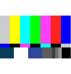 no signal tv test pattern television vector image