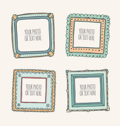 set of hand drawn photoframes vector image