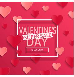 valentines day super sale background vector image vector image