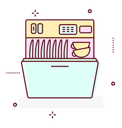 washing machine line style icon vector image vector image