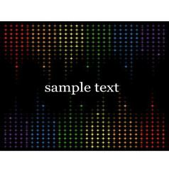 abstract background with multicolored stars vector image vector image