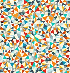 Abstract Retro Triangles Background vector image vector image