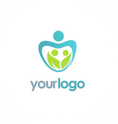 love people ecology logo vector image