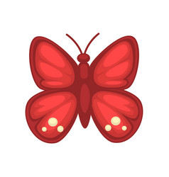 Small red butterfly vector