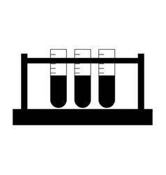test tube the black color icon vector image