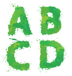 a b c d handdrawn english alphabet - letters vector image