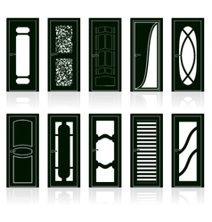 Interior door silhouettes vector image vector image