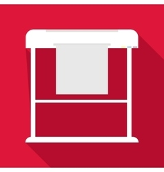 Large format printer icon flat style vector image