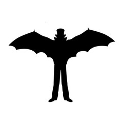 vampire tale silhouette holiday halloween vector image