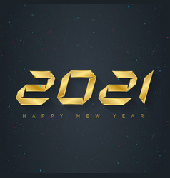 2021 holiday greeting card with confetti vector image