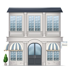 A restaurant building vector image