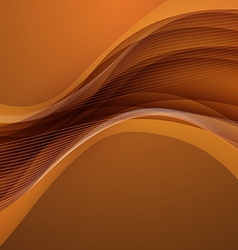 Abstract brown background with wave vector