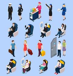 airplane passengers set vector image