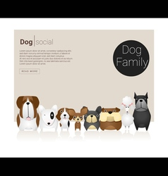 Animal banner with Dog for web design 6 vector image
