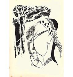 Art of Line Art - Gypsy vector image