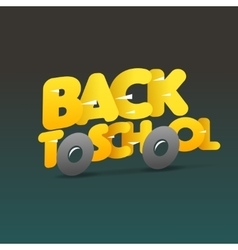 Back to school logo school bus make from letters vector image