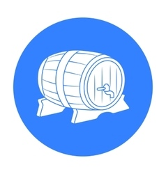 Beer barrel icon in black style isolated on white vector