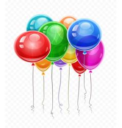 Birthday balloons soaring vector