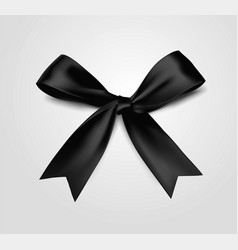 black bow realistic 3d style vector image
