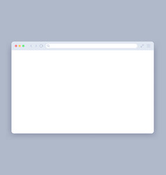 browser window blank web interface mock screen vector image