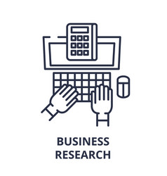 Business research line icon concept business vector