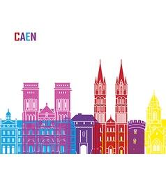 Caen skyline pop vector image
