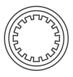Car clutch plate thin line icon car disc vector