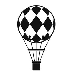Checkered air balloon icon simple style vector
