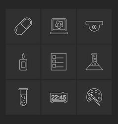 Chemical madical lab science beaker testtube vector