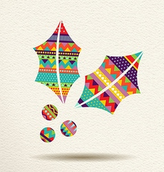 Christmas mistletoe design in fun happy colors vector image
