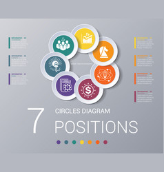 Circles diagram elements template infographics 7 vector