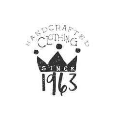 Clothing Vintage Emblem With The Crown vector image