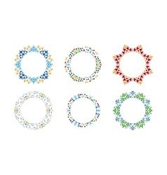 Colorful ethnic ornamental cirular frames vector image