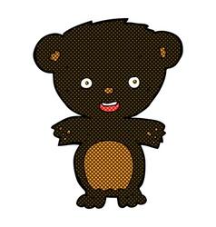Comic cartoon black bear vector