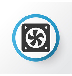 Cpu fan icon symbol premium quality isolated vector
