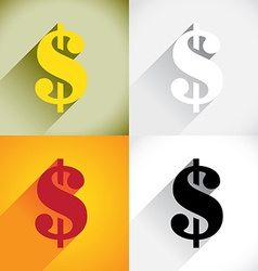 Dollar currency symbol vector image