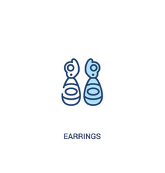 Earrings concept 2 colored icon simple line vector
