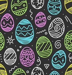 Easter eggs colorful seamless pattern vector
