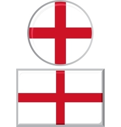 English round and square icon flag vector