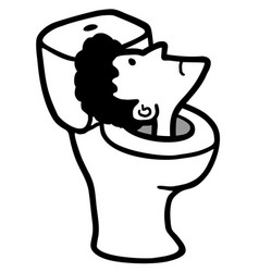 face in toilet vector image