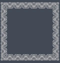 Fine floral square frame decorative element for vector