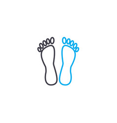 foot care thin line stroke icon foot care vector image