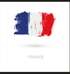france colorful brush strokes painted national vector image